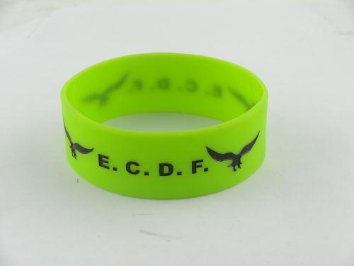 silicone rubber bracelets custom